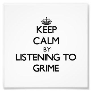 Guarde la calma escuchando la SUCIEDAD