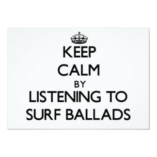 """Guarde la calma escuchando las BALADAS de la Invitación 5"""" X 7"""""""