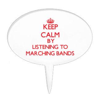 Guarde la calma escuchando las BANDAS Figura De Tarta