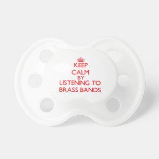 Guarde la calma escuchando las BANDAS DE METALES Chupetes Para Bebes