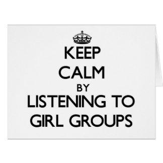 Guarde la calma escuchando los GRUPOS del CHICA Felicitacion