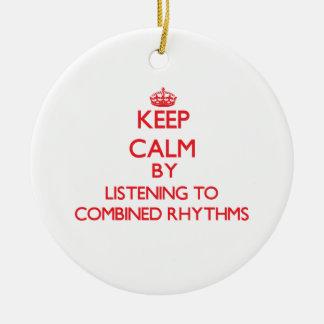 Guarde la calma escuchando los RITMOS COMBINADOS Ornamentos Para Reyes Magos