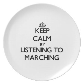 Guarde la calma escuchando MARCHAR Platos De Comidas