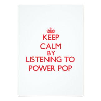 """Guarde la calma escuchando PARA ACCIONAR EL POP Invitación 5"""" X 7"""""""