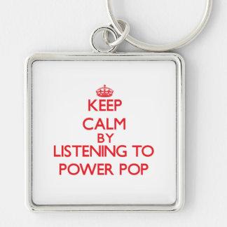 Guarde la calma escuchando PARA ACCIONAR EL POP Llaveros