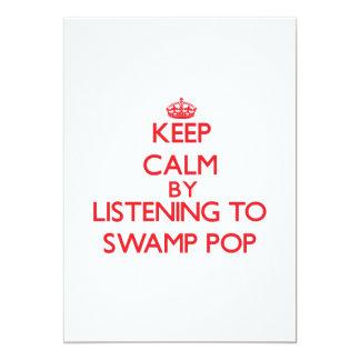 """Guarde la calma escuchando PARA HUNDIR EL POP Invitación 5"""" X 7"""""""