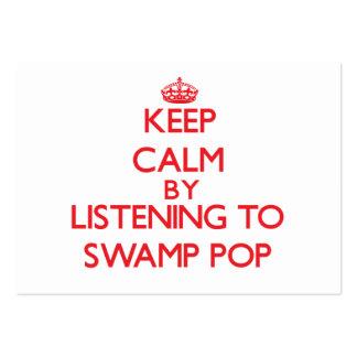Guarde la calma escuchando PARA HUNDIR EL POP Tarjetas De Visita Grandes