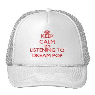 Guarde la calma escuchando PARA SOÑAR EL POP Gorros Bordados
