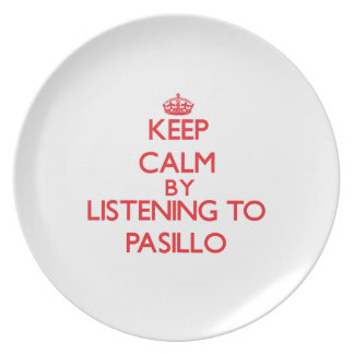 Guarde la calma escuchando PASILLO Platos De Comidas