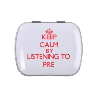 Guarde la calma escuchando PRE