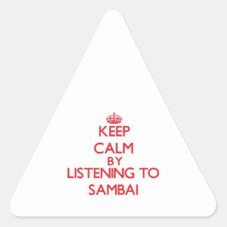 Guarde la calma escuchando SAMBAI