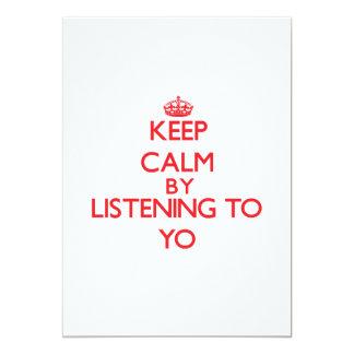 Guarde la calma escuchando YO Anuncios