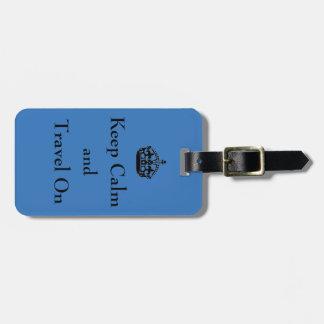GUARDE la CALMA - etiqueta del equipaje Etiquetas Maleta