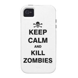 Guarde la calma iPhone 4 funda