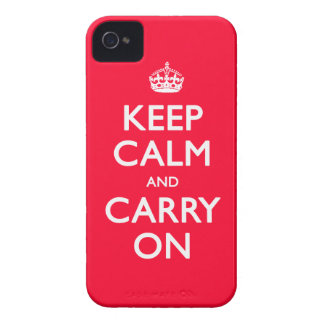 Guarde la calma iPhone 4 carcasas