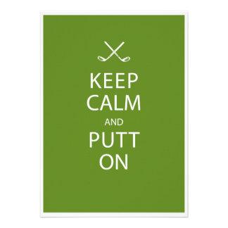 Guarde la calma - Golf el 50 o cumpleaños