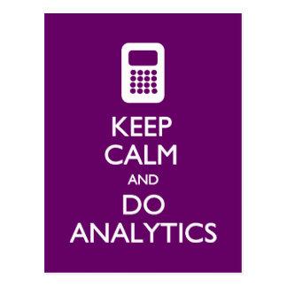 Guarde la calma hacen la postal del Analytics