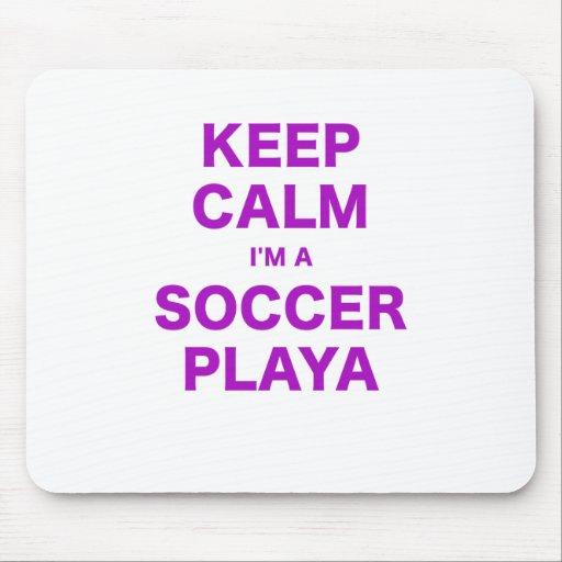 Guarde la calma Im un fútbol Playa Tapetes De Ratón