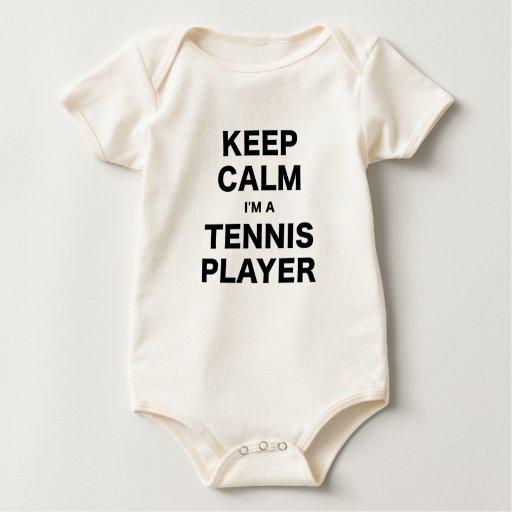 Guarde la calma Im un jugador de tenis Traje De Bebé