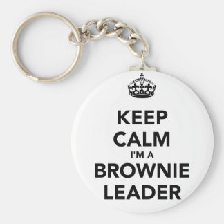 Guarde la calma Im un líder de Browne Llavero Personalizado