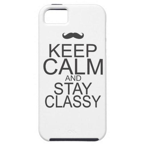 Guarde la calma iPhone 5 Case-Mate protectores