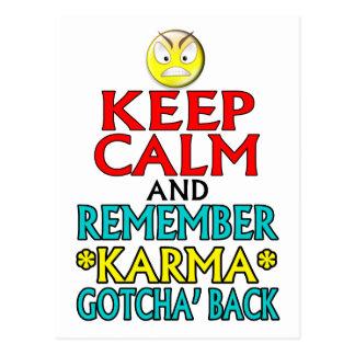 Guarde la calma -- Karmas Tarjeta Postal