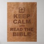 Guarde la calma leen la biblia poster