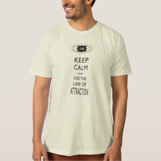 Guarde la calma - ley de la camisa de los hombres
