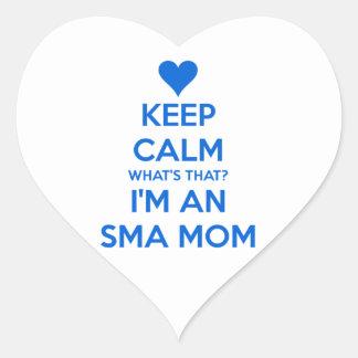 Guarde la calma - mamá de SMA Pegatina De Corazón