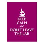Guarde la calma no dejan la postal del laboratorio