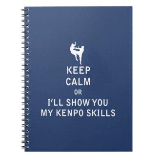 Guarde la calma o le mostraré mis habilidades de cuaderno