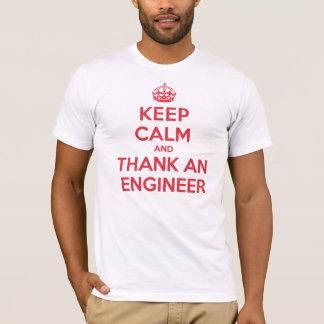 Guarde la calma para agradecer al ingeniero playera