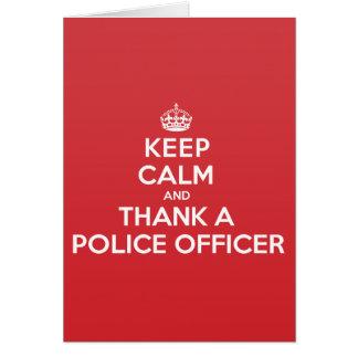 Guarde la calma para agradecer la tarjeta de nota