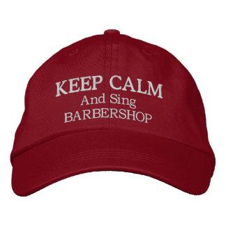 Guarde la calma para cantar el gorra bordado gorras de beisbol bordadas