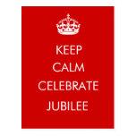 Guarde la calma para celebrar la postal del jubile