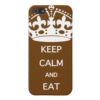 GUARDE LA CALMA PARA COMER EL CHOCOLATE iPhone 5 FUNDA