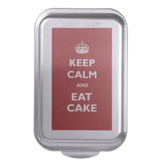 Guarde la calma para comer el molde para pasteles