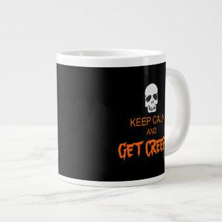 Guarde la calma para conseguir espeluznante taza extra grande