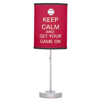 Guarde la calma para conseguir su juego en la lámp lámpara de mesilla de noche
