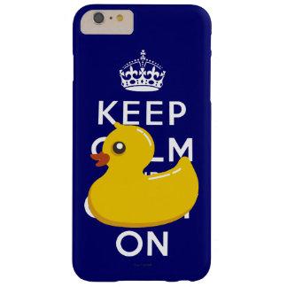 Guarde la calma para continuar el caucho Ducky Funda Barely There iPhone 6 Plus