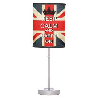 Guarde la calma para continuar la lámpara de Union