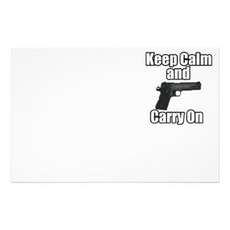 Guarde la calma para continuar papeleria de diseño