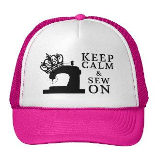 Guarde la calma para coser encendido gorras de camionero