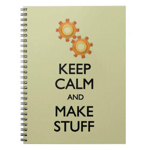 Guarde la calma para hacer la materia libretas