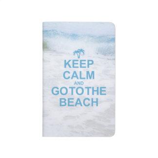 Guarde la calma para ir a la playa cuaderno
