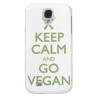 Guarde la calma para ir vegano funda para galaxy s4