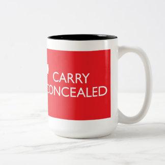 Guarde la calma para llevar 2-Tono rojo grande Taza De Café De Dos Colores