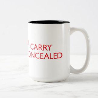 Guarde la calma para llevar el 2-Tono rojo grande Taza De Café De Dos Colores