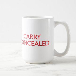 Guarde la calma para llevar la taza roja grande
