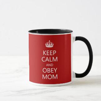 Guarde la calma para obedecer el día de madre de